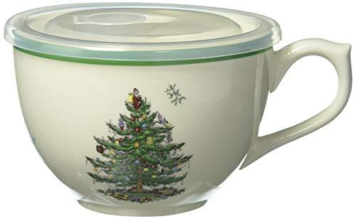 Spode Weihnachtsbaum Weihnachtsbaum, Jumbotasse mit Deckel 20 ounce mehrfarbig