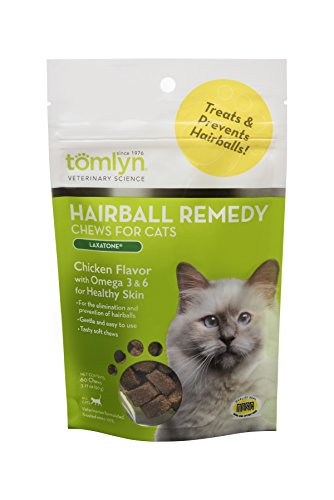 Tomlyn Laxatone - Remedio de Bolas de Pelo para Gatos y Gatitos, 60 Unidades