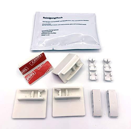 ps QUICKFIX Klebeplatten für Plissees mit integrierten Spannschuhen (4 Stück) - Klebeträger - Plissees in der Glasleiste ohne Bohren montieren