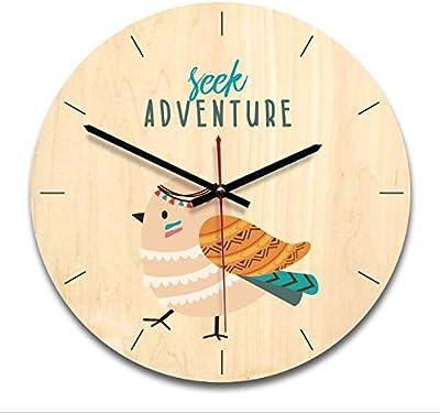 Blue Stones Wooden Wall Clock Cartoon Decor Clock Wall Hanging Decorations Crafts s Creative Birthday