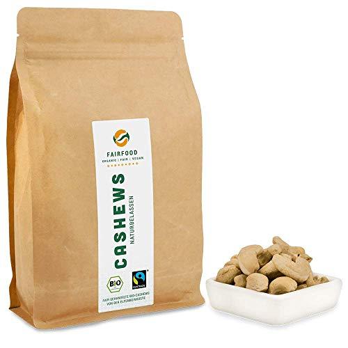 Bio Fairtrade Cashewkerne: Naturbelassen (700g) | Cashews aus Burkina Faso | Natürliche Qualität und fair gehandelt