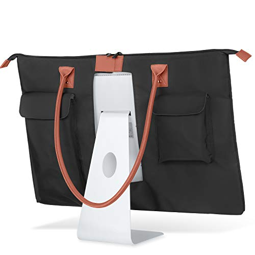 CURMIO Carrying Bag for Apple 27' iMac Desktop Computer, Travel Tote Bag Protective Shoulder Case with PU Leather Handle for 27' iMac Monitor and Accessories