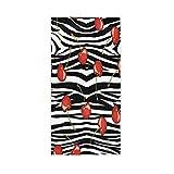 F17 Towel Cherry Fruit Zebra Print Animal 30 X 15 inch Hand Towel for Home Kitchen Bathroom Gym Swim Spa