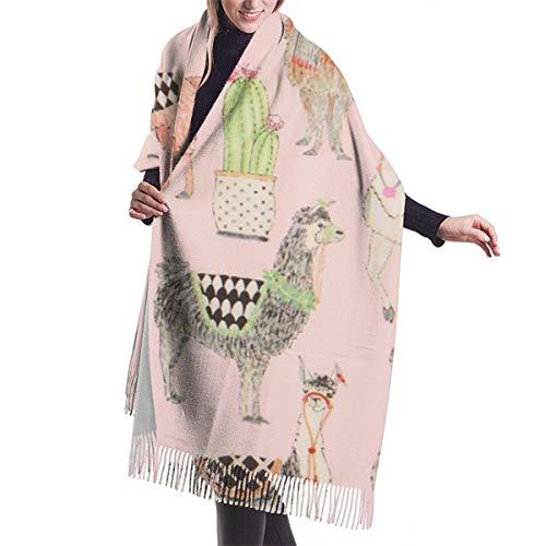 Manta de cachemir grande para mujer, bufanda con borla, pashmina, chal