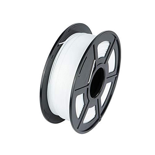 PLA Filament 1.75mm 1kg PLA 3D Printer Filament for 3D Printers/ 3D Pens, Dimensional Accuracy +/- 0.02 mm, No Tangles PLA 3D Printing Filament, Vacuum Packaging, 5 Colors (White)