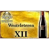 Easy Painter Plaque Murale rétro en métal pour café, Magasin de Fer, Tableau de Bar, décoration d'intérieur – Westvleteren XII Bière 30 x 20 cm