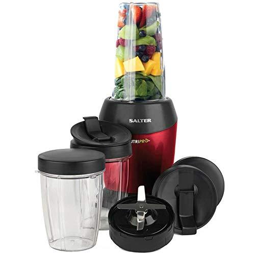 Salter EK2002V2 NutriPro Super Charged Multi-Purpose Nutrient Extractor Blender | 1 Litre | 1200 W | BPA-Free | Red, Plastic