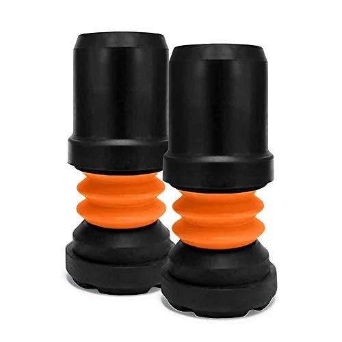 Flexyfoot Gehstock-Hülsen, stoßdämpfend, 19 mm, Schwarz, 2 Stück