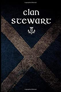 Clan Stewart: Scottish Flag Clan Thistle- Blank Lined Journal with Soft Matte Cover