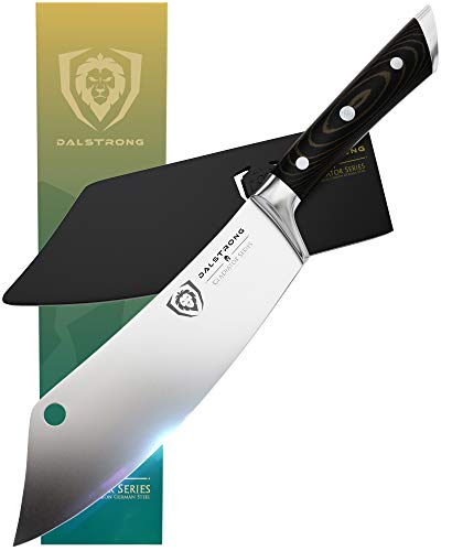DALSTRONG - 8' Chef's Knife -'The Crixus' - Gladiator Series - Chef & Cleaver Hybrid - Meat Knife w/Sheath - G10 Handle