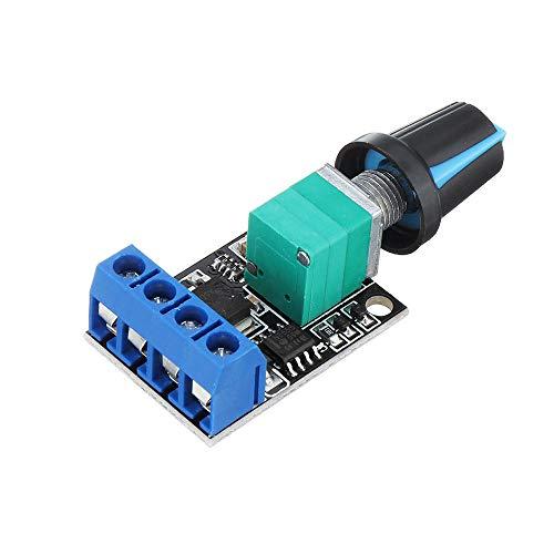SHANG-JUN Fácil de Montar PWM DC Motor Gobernador de Peed Interruptor LED Dimmer Speed Controlador de Velocidad 5V-16V 10A S Conveniente