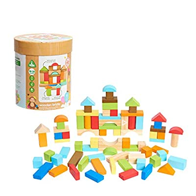 Early Learning Centre Wooden Stacking Rings, Hand Eye Coordination