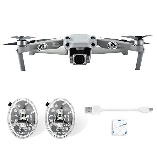 Fututech - Drone universal (2 unidades, luz de vuelo de noche con batería recargable, lámpara LED para DJI FPV DJI Air 2S Mavic Air2 Mavic Mini Mavic2 DJI Mini2 accesorios Drone
