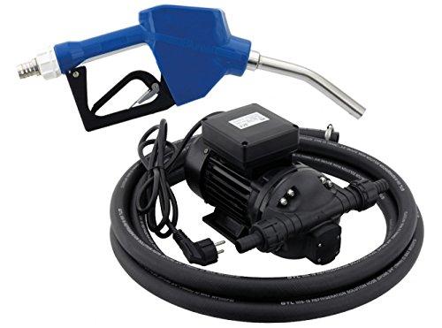 BLUREA Pumpe für AdBlue® 230V mit automatischer Zapfpistole & 4 Meter EPDM Schlauch, bis 34 Liter/min, 370W Leistung, Geräusche-Schutzklasse IP55, auch für Wasser, Scheibenwischwasser