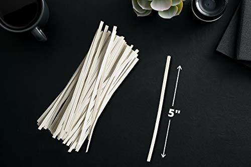 Twies 5 Inch Paper Twist Ties 200 Pcs   Reusable Bread Ties for Party Cello Candy Coffee Treat Bags Cake Pops - White 4 ⭐Economy Pack: Pack of 200 twist ties for bags, ample supply to meet multiple needs. Reusable tie, this one-time purchase will serve you for long ⭐Adequate Length: 5 inches twist tie, long enough to serve the purpose of tying tightly and does not open up at its own ⭐Durable: Made of premium quality paper with inner strong, non-breakable metal wire. Durable for every weather, use twisty ties for indoor and outdoor needs
