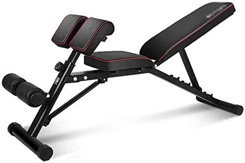 WANGCAI Hantelbank Verstellbare Hantelbank Multi-Funktions-Profi Hantel Sit-up Brett Bank-Presse Home Fitness Stuhl Brustmuskelbauchfitnessgeräte (Color : Style1)