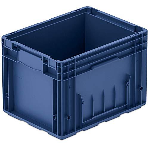 VDA-R-KLT 4329, 400 x 300 x 280 mm, Kleinladungsträger, Kunststoffbehälter, Lager- und Transportbox Industrie, 1 St, Blau