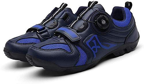 JINFAN Men's MTB Bike Shoes,Very Suitable for Mountain Bikes,Cross-Country Bikes,Blue-8.5UK/42EU