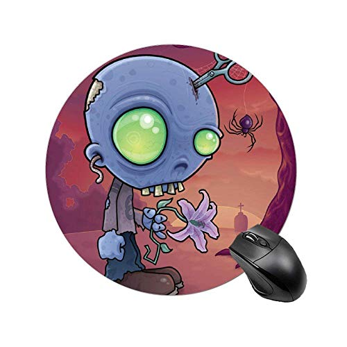 NA Alfombrilla de ratón Redonda Zombie Junior con Alfombrilla de ratón con Base de Goma Antideslizante para Ordenador portátil, Ordenador de 8 Pulgadas