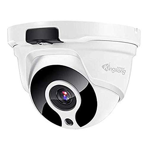 KingKongSmart 2MP Poe Security Camera Outdoor, Audio Onvif IP Camera Indoor, 1920x1080P, 98ft Night Vision, 2.8mm Lens, 120° Wide Angle, IP67 Weatherproof, Motion Detection, H.265, White (KKS-P12228)