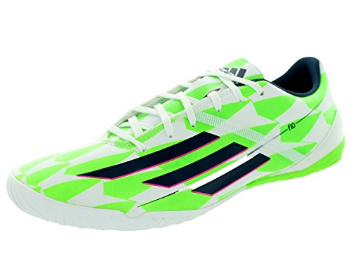 adidas Men's F10 in (Messi) Indoor Soccer Shoe (CWhite/RicBlu/SGreen/Blaess/Bleopl/Versol, 10A)