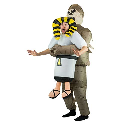 Scary Egyptian Mummy Inflatable Costume for Adults (One Size)