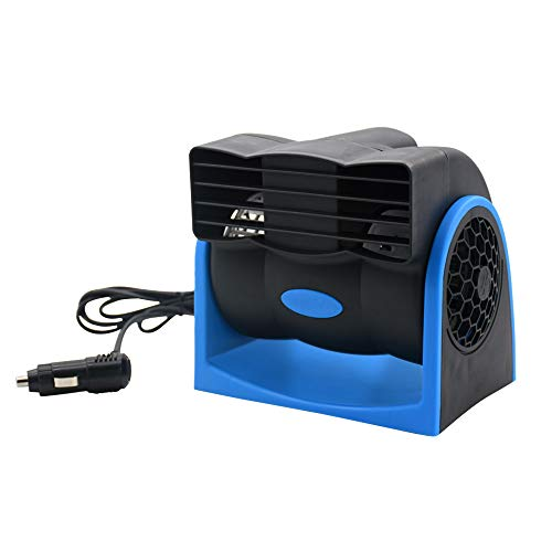 Taotuo Car Cooling Air Fan 12V Auto Vehicle Van SUV Speed Adjustable Silent Cooler Vent
