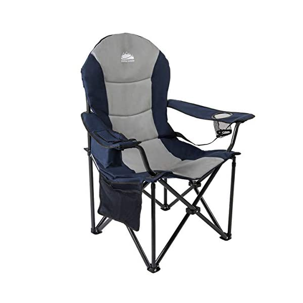 Coastrail Outdoor Camping Chair with Lumbar Back Support, Oversized Padded Lawn Chair...