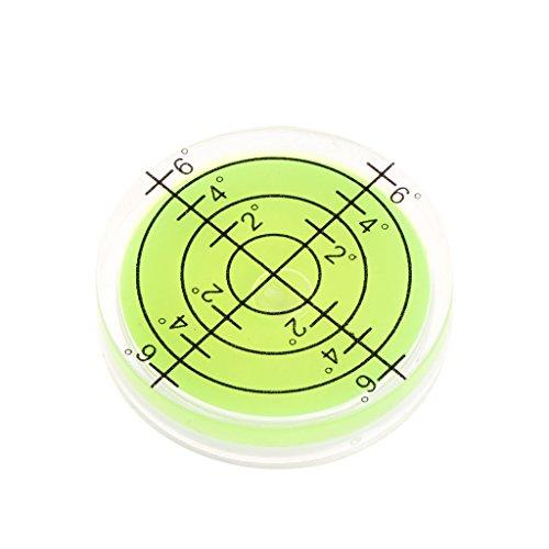 BIlinli Nivel de Burbuja de Superficie de Marcado de Grado de Burbuja de Ojo de Buey de 32x7 mm para cámara Circular