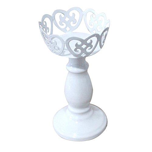 DaoRier Continental Vintage-Stil Eisen Kerzenständer Home Decoration Eisenkunst Spitze Kerzenständer House Hochzeit Tischdekorationen,1 Stück Size 7 * 6.5 * 13cm