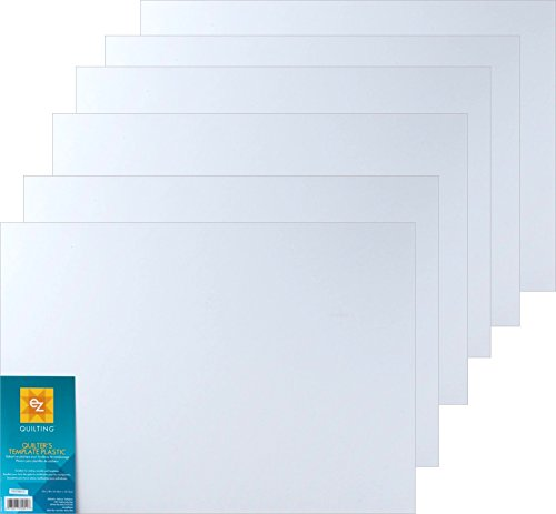 Bundle of EZ International Quilting by Wrights Blank Plastic Template Sheets, 12in x 18in (6 Sheets)