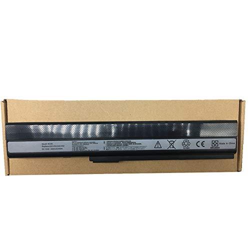 Standard Serie A32-K52 Batería para ASUS A52F A52J A52N B53 K42 K52 K52DR K52J K52JK K62 X52 X52D X52F X62 Ordenador (6 Celdas 4400mAh 10.8V Negro)