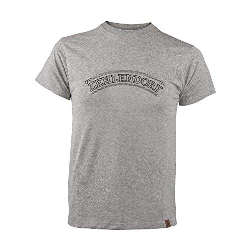 AMPELMANN Berlin Kiez Kollektion Zehlendorf | T-Shirt Herren | Graumeliert Bio-Baumwolle & Viskose (L)