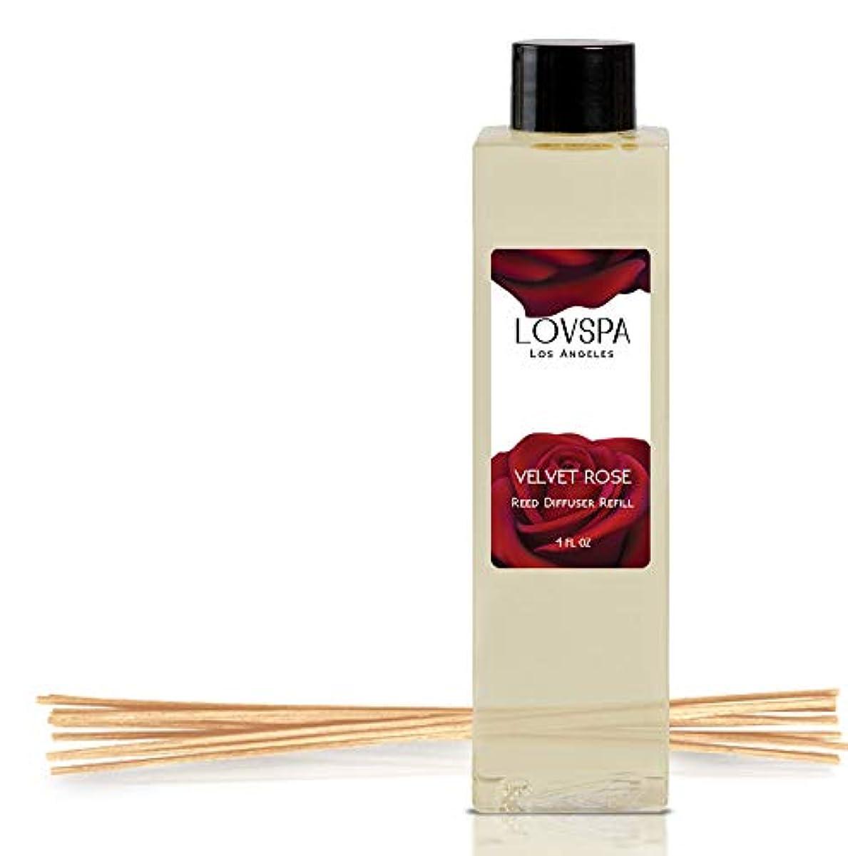エッセンス火玉lovspa Reed Diffusers Oil Refill   Great Gift Idea For Momお父さんや叔母、おばあちゃん、Nana、 4 oz LOVPSA-REFILL-VELVETROSE