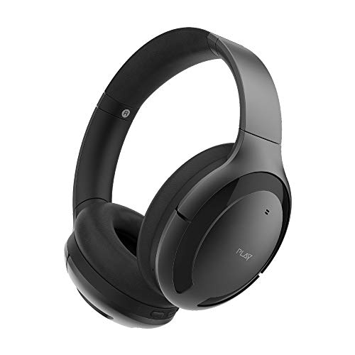 PlayGo BH70 Hybrid Active Noise Cancelling Headphones with AI Golden Curve, EBEL Drivers, 30 Hours Battery Life, Wear Detection, Transperancy Mode, Qualcomm BT 5.0 Chipset (Graphite Grey)