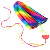 VIDOO 27.5 inch Parachute Toy Kite Outdoor Play Hand Throw Free Fall Toy
