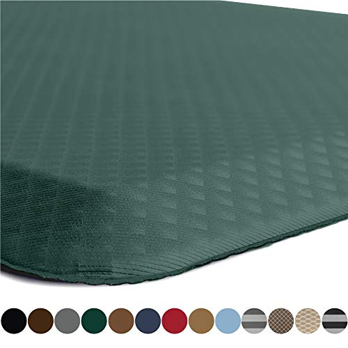 Price comparison product image Kangaroo Original Standing Mat Kitchen Rug,  Anti Fatigue Comfort Flooring,  Phthalate Free,  Commercial Grade,  Ergonomic Floor Pad for Office Stand Up Desk,  70x24,  Hunter Green
