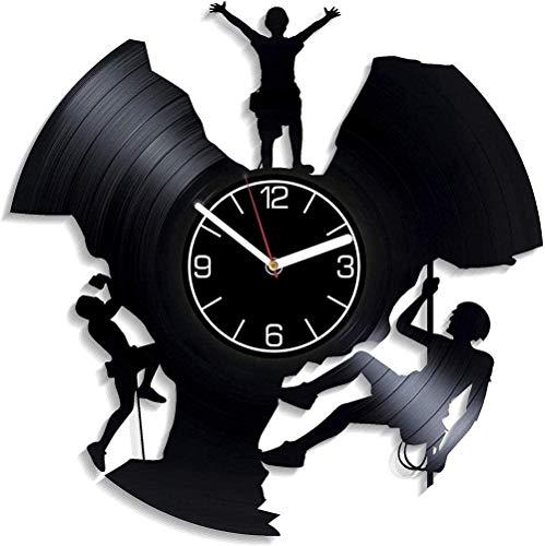 szhao Reloj de Pared de Vinilo Reloj de Disco de Vinilo de 12 Pulgadas - Reloj de decoración Retro Creativo de Deportes de Escalada