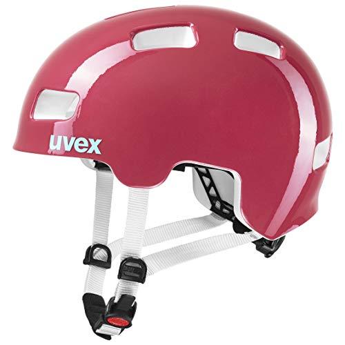 uvex Unisex Jugend, hlmt 4 Fahrradhelm, pink, 51-55 cm