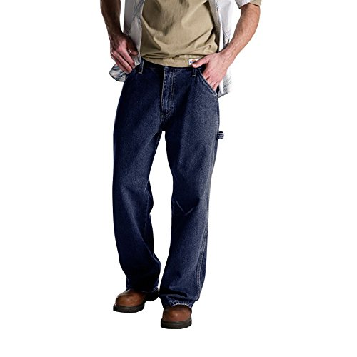 Dickies Men's Relaxed Fit Carpenter Jean, Stone Washed, 36x32