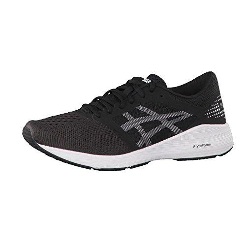 ASICS Men's Roadhawk FF Black/White/Silver Running Shoes - 10 UK/India (45 EU)(11 US) (T7D2N.9001)
