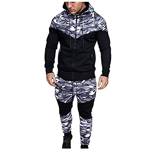 WOCACHI Final Clear Out Mens Tracksuit 2 Piece Sets Patchwork Sweatshirt Tops Pants Hooded Sports Suit Black Friday Cyber Monday Hoodies Jackets Sweatpants Pullover Spring Summer Long Sleeve Warm
