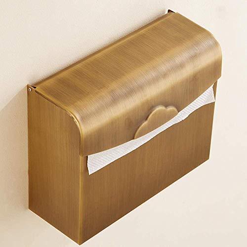 ZJN-JN Tissue Holder for Bathroom Wall Mount Bathroom Toilet Paper Holder Solid Brass Antique Brass Paper roll Holder Practical Bathroom Toilet Paper Holder