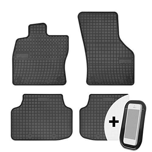 moto-MOLTICO Gummimatten Auto Fußmatten Gummi Automatten Passgenau 4-teilig Set - passend für Skoda Octavia 3 ab 2012