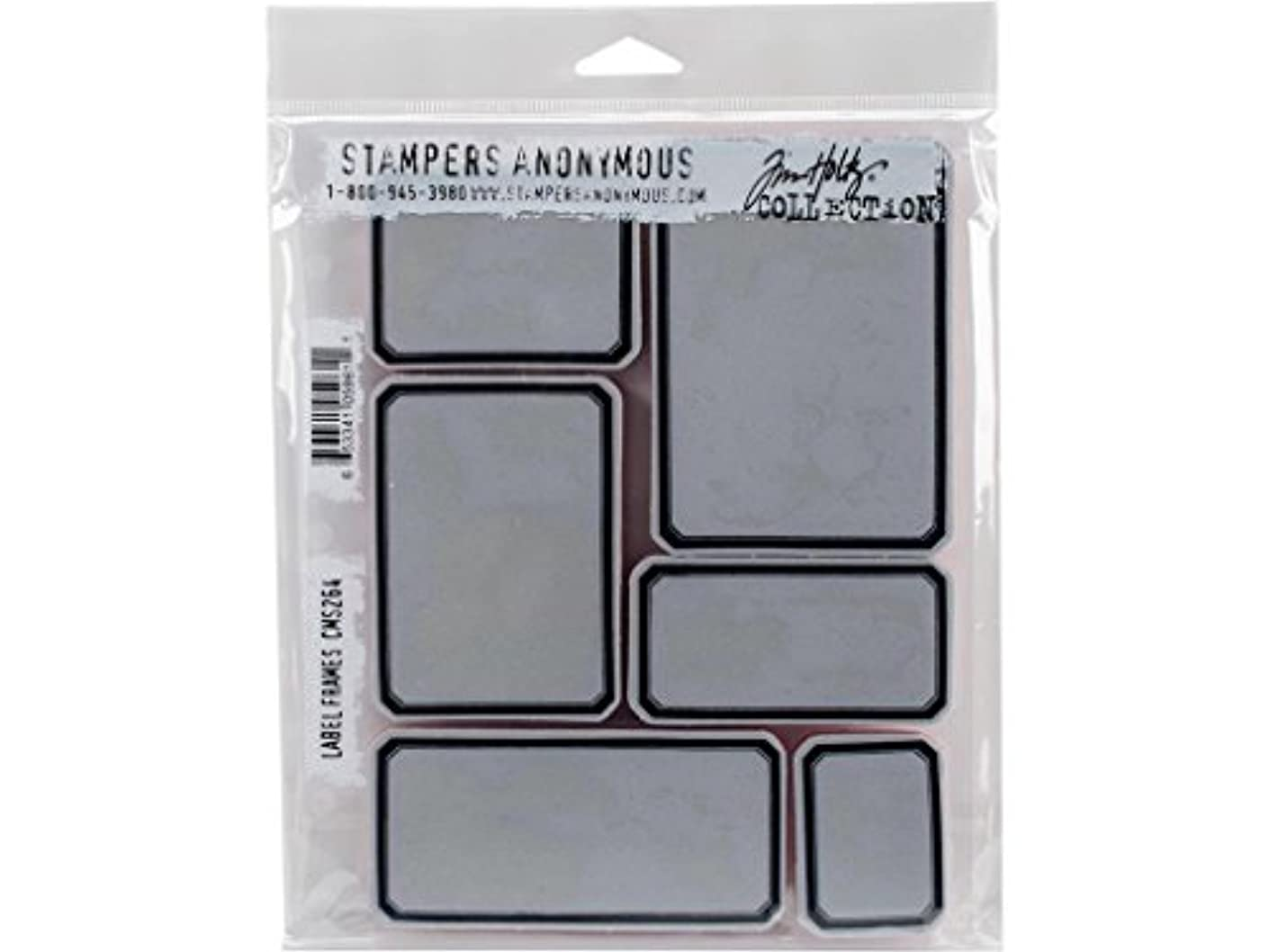Stampers Anonymous CMS Set StampersA Cling Stamp THoltz Label Frames