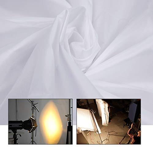 DIY Schirm 6 x1,5 m 5x20ft Nylon Seide Weiß Nahtlose Diffusion Stoff für Fotografie Softbox, Lichtzelt und DIY Beleuchtung Modifier 1.5x6m
