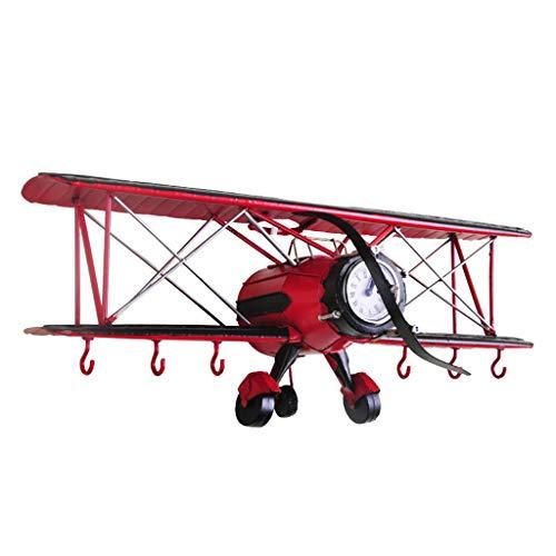 HXF- Wandplank creatieve vliegtuig model muur klok muur decoratie rek kleding winkel kinderen kamer wanddecoratie muur opknoping duurzaam