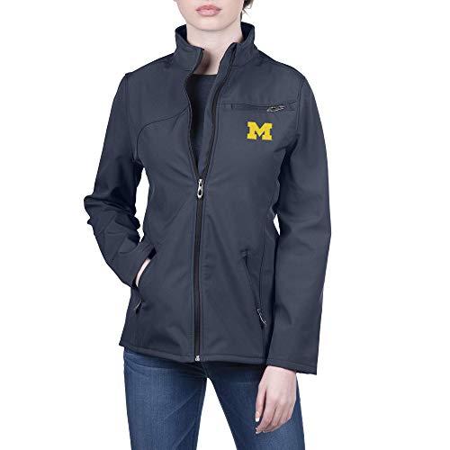 Spyder NCAA Michigan Wolverines Female Transport Full Zip Soft Shell Gameday Jacket, Michigan Wolverines Navy, Medium