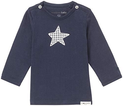 Noppies Noppies Baby - Jungen T-Shirt B Tee Ls Monsieur, Einfarbig, Gr. 50, Blau (Navy C166)