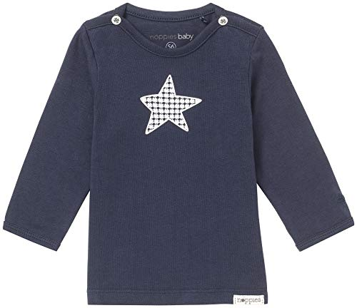 Noppies Baby - Jungen T-Shirt B Tee Ls Monsieur, Einfarbig, Gr. 74, Blau (Navy C166)
